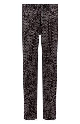 Мужские хлопковые домашние брюки DEREK ROSE темно-бежевого цвета, арт. 3564-NELS082 | Фото 1 (Материал внешний: Хлопок; Длина (брюки, джинсы): Стандартные; Кросс-КТ: домашняя одежда)