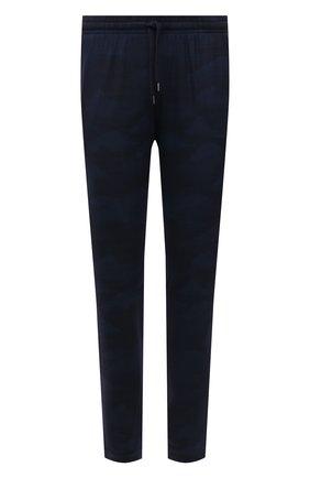Мужские домашние брюки DEREK ROSE темно-синего цвета, арт. 9403-L0ND005 | Фото 1 (Длина (брюки, джинсы): Стандартные; Кросс-КТ: домашняя одежда)