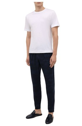 Мужские домашние брюки DEREK ROSE темно-синего цвета, арт. 9403-L0ND005   Фото 2 (Длина (брюки, джинсы): Стандартные; Кросс-КТ: домашняя одежда)