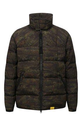 Мужская пуховая куртка ASPESI хаки цвета, арт. W1 I 1I31 L674 | Фото 1 (Материал внешний: Синтетический материал; Материал подклада: Синтетический материал; Материал утеплителя: Пух и перо; Рукава: Длинные; Длина (верхняя одежда): Короткие; Кросс-КТ: Куртка; Мужское Кросс-КТ: пуховик-короткий; Стили: Милитари)
