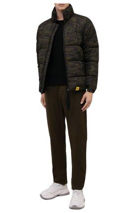 Мужская пуховая куртка ASPESI хаки цвета, арт. W1 I 1I31 L674 | Фото 2 (Материал внешний: Синтетический материал; Материал подклада: Синтетический материал; Материал утеплителя: Пух и перо; Рукава: Длинные; Длина (верхняя одежда): Короткие; Кросс-КТ: Куртка; Мужское Кросс-КТ: пуховик-короткий; Стили: Милитари)