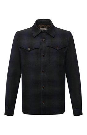 Мужская шерстяная куртка-рубашка ASPESI темно-синего цвета, арт. W1 A CE51 L668 | Фото 1 (Длина (верхняя одежда): Короткие; Материал подклада: Синтетический материал; Рукава: Длинные; Материал внешний: Шерсть; Кросс-КТ: Куртка; Мужское Кросс-КТ: шерсть и кашемир; Стили: Кэжуэл)