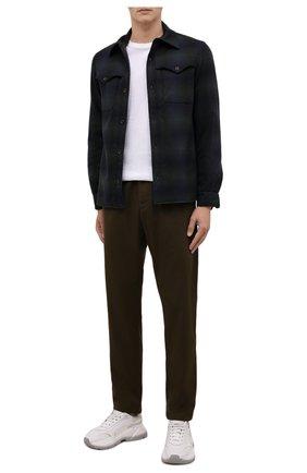 Мужская шерстяная куртка-рубашка ASPESI темно-синего цвета, арт. W1 A CE51 L668 | Фото 2 (Длина (верхняя одежда): Короткие; Материал подклада: Синтетический материал; Рукава: Длинные; Материал внешний: Шерсть; Кросс-КТ: Куртка; Мужское Кросс-КТ: шерсть и кашемир; Стили: Кэжуэл)
