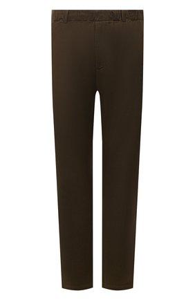 Мужские хлопковые брюки ASPESI хаки цвета, арт. W1 A CP32 L639 | Фото 1 (Материал внешний: Хлопок; Длина (брюки, джинсы): Стандартные; Случай: Повседневный; Стили: Кэжуэл)