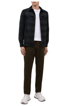 Мужские хлопковые брюки ASPESI хаки цвета, арт. W1 A CP32 L639 | Фото 2 (Материал внешний: Хлопок; Длина (брюки, джинсы): Стандартные; Случай: Повседневный; Стили: Кэжуэл)