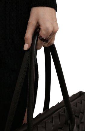 Женское кольцо BOTTEGA VENETA коричневого цвета, арт. 666044/VAHU4   Фото 2 (Материал: Серебро)