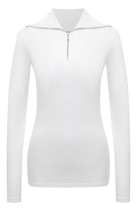 Женский хлопковый пуловер JIL SANDER белого цвета, арт. JPPT705503-WT257108 | Фото 1 (Рукава: Длинные; Материал внешний: Хлопок; Длина (для топов): Стандартные; Женское Кросс-КТ: Пуловер-одежда; Стили: Кэжуэл)