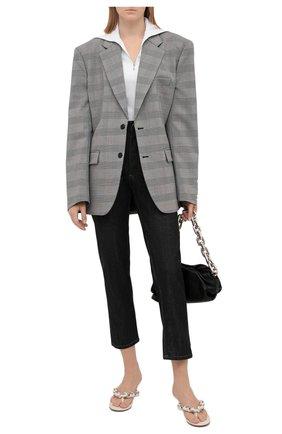 Женский хлопковый пуловер JIL SANDER белого цвета, арт. JPPT705503-WT257108 | Фото 2 (Рукава: Длинные; Материал внешний: Хлопок; Длина (для топов): Стандартные; Женское Кросс-КТ: Пуловер-одежда; Стили: Кэжуэл)