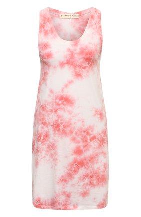 Женское хлопковое платье ELECTRIC&ROSE розового цвета, арт. LFJP17-BL00M   Фото 1 (Длина Ж (юбки, платья, шорты): Мини; Материал внешний: Хлопок; Стили: Кэжуэл; Случай: Повседневный; Женское Кросс-КТ: Платье-одежда; Кросс-КТ: Трикотаж)