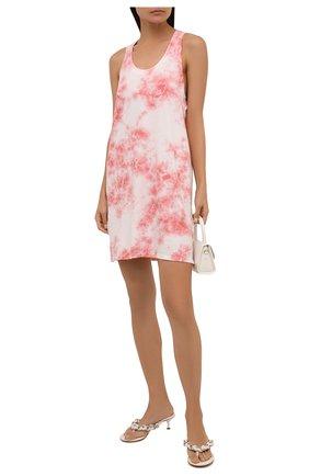 Женское хлопковое платье ELECTRIC&ROSE розового цвета, арт. LFJP17-BL00M   Фото 2 (Длина Ж (юбки, платья, шорты): Мини; Материал внешний: Хлопок; Стили: Кэжуэл; Случай: Повседневный; Женское Кросс-КТ: Платье-одежда; Кросс-КТ: Трикотаж)