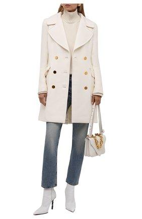 Женское шерстяное пальто TOM FORD белого цвета, арт. CP1541-FAX211 | Фото 2 (Материал подклада: Вискоза; Материал внешний: Шерсть; Стили: Гламурный; 1-2-бортные: Двубортные; Длина (верхняя одежда): До середины бедра; Рукава: Длинные)