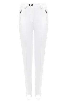 Женские брюки со штрипками KITON белого цвета, арт. D52120X0473A   Фото 1 (Материал внешний: Синтетический материал; Материал подклада: Синтетический материал; Длина (брюки, джинсы): Стандартные; Стили: Гламурный; Женское Кросс-КТ: Брюки-одежда; Силуэт Ж (брюки и джинсы): Узкие)