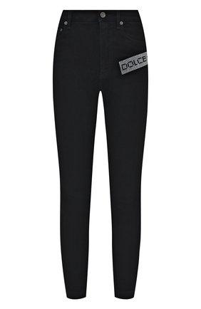 Женские джинсы DOLCE & GABBANA черного цвета, арт. FTBXHZ/G901Y | Фото 1 (Материал внешний: Хлопок; Длина (брюки, джинсы): Стандартные; Стили: Спорт-шик; Кросс-КТ: Деним; Силуэт Ж (брюки и джинсы): Скинни)