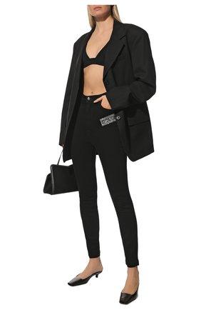 Женские джинсы DOLCE & GABBANA черного цвета, арт. FTBXHZ/G901Y | Фото 2 (Материал внешний: Хлопок; Длина (брюки, джинсы): Стандартные; Стили: Спорт-шик; Кросс-КТ: Деним; Силуэт Ж (брюки и джинсы): Скинни)