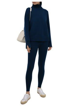 Женские кашемировые леггинсы LORO PIANA синего цвета, арт. FAL4053 | Фото 2 (Материал внешний: Кашемир, Шерсть; Стили: Кэжуэл; Женское Кросс-КТ: Леггинсы-одежда; Кросс-КТ: Трикотаж; Длина (брюки, джинсы): Стандартные)