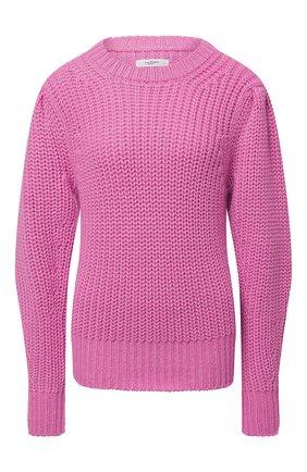 Женский свитер ISABEL MARANT ETOILE розового цвета, арт. PU1066-21A056E/PLEANE   Фото 1 (Материал внешний: Синтетический материал, Шерсть; Длина (для топов): Стандартные; Рукава: Длинные; Стили: Романтичный; Женское Кросс-КТ: Свитер-одежда)