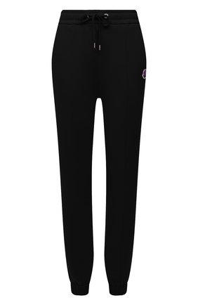 Женские хлопковые джоггеры MONCLER черного цвета, арт. G2-093-8H000-12-809LC   Фото 1 (Длина (брюки, джинсы): Стандартные; Материал внешний: Хлопок; Стили: Спорт-шик; Женское Кросс-КТ: Джоггеры - брюки, Брюки-спорт; Силуэт Ж (брюки и джинсы): Джоггеры)