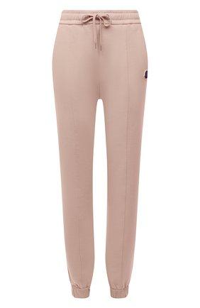 Женские хлопковые джоггеры MONCLER розового цвета, арт. G2-093-8H000-12-809LC | Фото 1 (Длина (брюки, джинсы): Стандартные; Материал внешний: Хлопок; Стили: Спорт-шик; Женское Кросс-КТ: Джоггеры - брюки, Брюки-спорт; Силуэт Ж (брюки и джинсы): Джоггеры)
