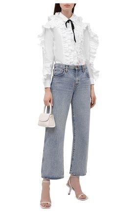 Женская блузка REDVALENTINO белого цвета, арт. WR0ABH10/LUN   Фото 2 (Материал внешний: Синтетический материал, Хлопок; Длина (для топов): Стандартные; Рукава: Длинные; Стили: Романтичный; Принт: Без принта; Женское Кросс-КТ: Блуза-одежда)