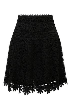 Женская юбка REDVALENTINO черного цвета, арт. WR0RA01X/66F   Фото 1 (Материал подклада: Синтетический материал; Материал внешний: Синтетический материал; Длина Ж (юбки, платья, шорты): Мини; Стили: Гламурный; Женское Кросс-КТ: Юбка-одежда)