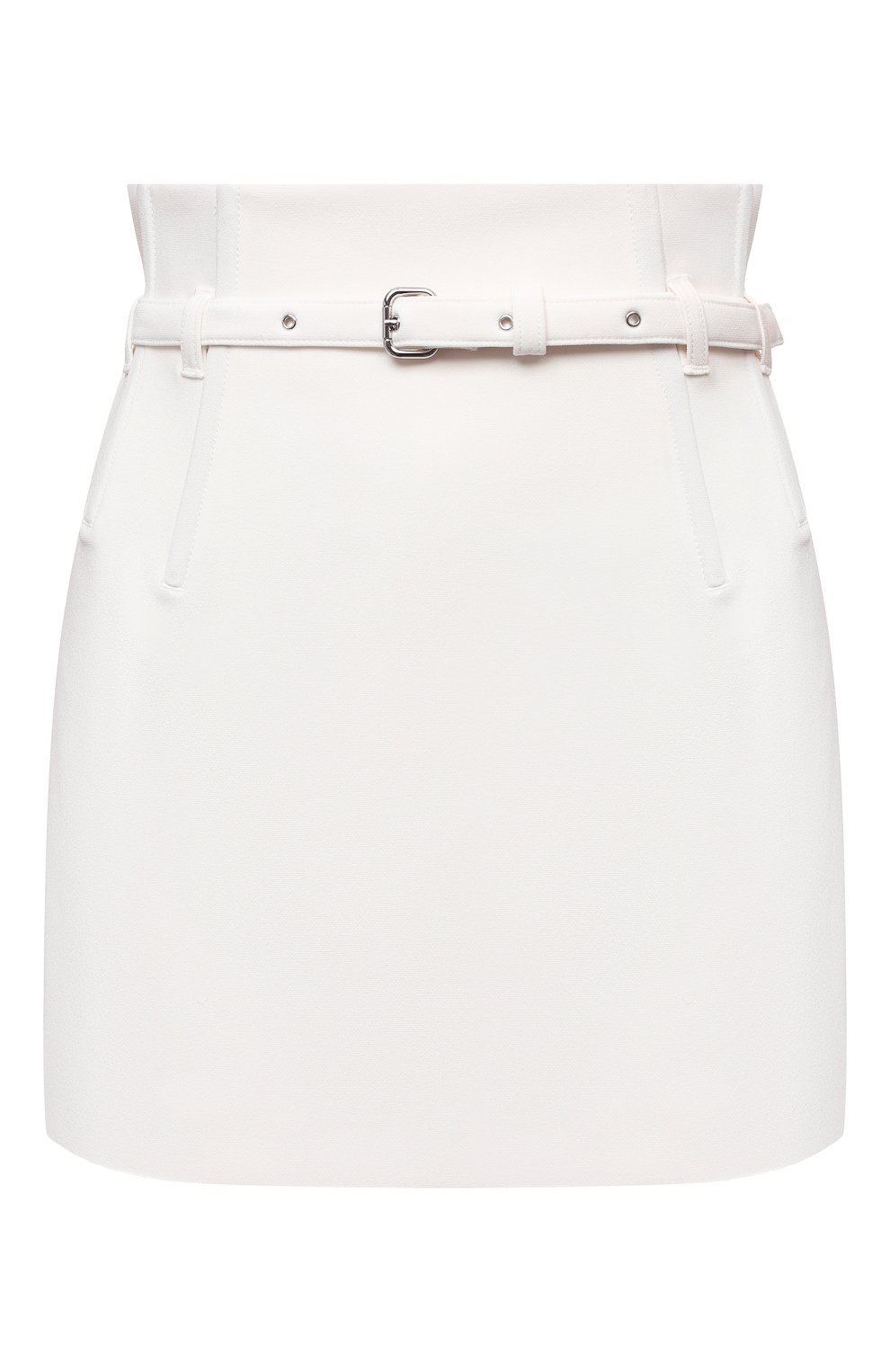 Женские юбка-шорты REDVALENTINO кремвого цвета, арт. WR0RFG25/5LB | Фото 1 (Стили: Гламурный; Длина Ж (юбки, платья, шорты): Мини; Материал внешний: Синтетический материал; Женское Кросс-КТ: юбка-шорты)