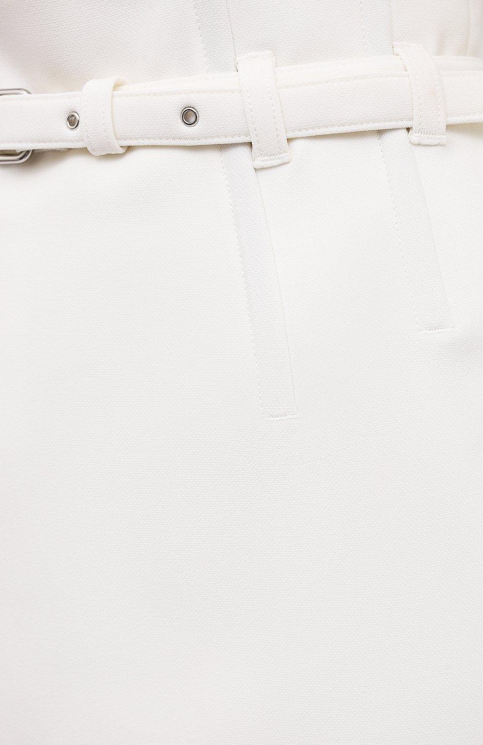 Женские юбка-шорты REDVALENTINO кремвого цвета, арт. WR0RFG25/5LB | Фото 5 (Стили: Гламурный; Длина Ж (юбки, платья, шорты): Мини; Материал внешний: Синтетический материал; Женское Кросс-КТ: юбка-шорты)