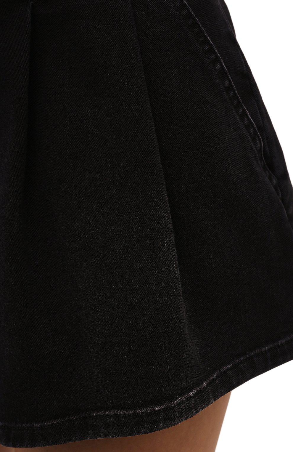 Женские джинсовые шорты IRO черного цвета, арт. WP30T0CEY | Фото 5 (Кросс-КТ: Деним; Длина Ж (юбки, платья, шорты): Мини; Женское Кросс-КТ: Юбка-одежда; Материал внешний: Хлопок; Стили: Кэжуэл)