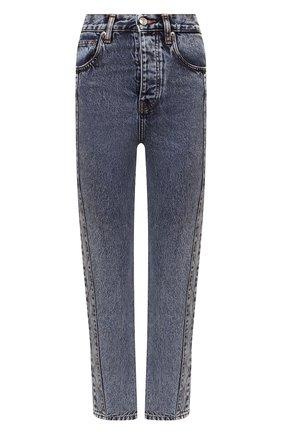 Женские джинсы IRO голубого цвета, арт. WP22GISM0ND   Фото 1 (Материал внешний: Хлопок; Длина (брюки, джинсы): Стандартные; Стили: Кэжуэл; Кросс-КТ: Деним; Силуэт Ж (брюки и джинсы): Прямые)