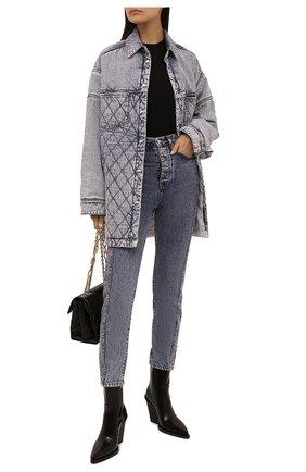 Женские джинсы IRO голубого цвета, арт. WP22GISM0ND   Фото 2 (Материал внешний: Хлопок; Длина (брюки, джинсы): Стандартные; Стили: Кэжуэл; Кросс-КТ: Деним; Силуэт Ж (брюки и джинсы): Прямые)