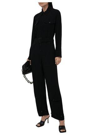 Женский комбинезон RALPH LAUREN черного цвета, арт. 290834775 | Фото 2 (Материал внешний: Синтетический материал, Вискоза; Длина (брюки, джинсы): Стандартные; Рукава: Длинные; Стили: Гламурный; Случай: Вечерний; Женское Кросс-КТ: Комбинезон-одежда)