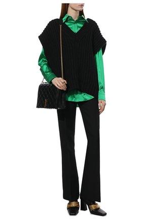 Женский шерстяной жилет VALENTINO черного цвета, арт. WB0KM01U6RS   Фото 2 (Материал внешний: Шерсть; Длина (верхняя одежда): Короткие; Стили: Гламурный; Женское Кросс-КТ: Жилет-одежда; Кросс-КТ: Трикотаж)