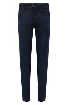 Мужские джинсы BOSS темно-синего цвета, арт. 50458151 | Фото 1 (Длина (брюки, джинсы): Стандартные; Материал внешний: Хлопок; Кросс-КТ: Деним; Силуэт М (брюки): Прямые; Стили: Кэжуэл)