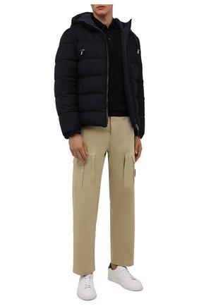 Мужская двусторонняя пуховая куртка BOSS темно-синего цвета, арт. 50455099 | Фото 2 (Рукава: Длинные; Материал утеплителя: Пух и перо; Длина (верхняя одежда): Короткие; Материал внешний: Шерсть; Кросс-КТ: Куртка; Мужское Кросс-КТ: пуховик-короткий; Стили: Кэжуэл)