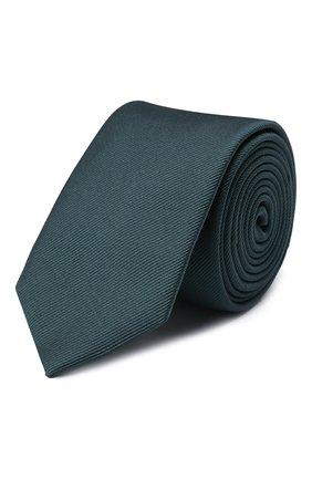 Мужской шелковый галстук DOLCE & GABBANA зеленого цвета, арт. GT149E/G0U46   Фото 1 (Материал: Текстиль, Шелк; Принт: Без принта)