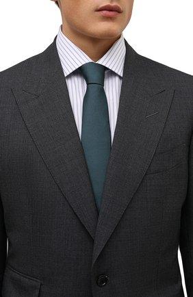 Мужской шелковый галстук DOLCE & GABBANA зеленого цвета, арт. GT149E/G0U46   Фото 2 (Материал: Текстиль, Шелк; Принт: Без принта)