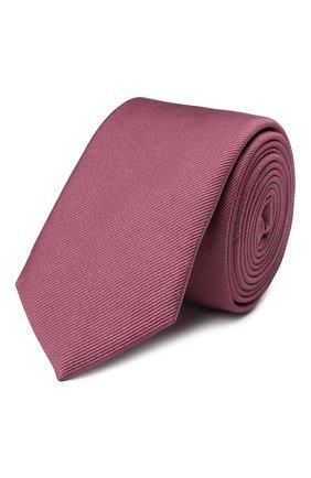 Мужской шелковый галстук DOLCE & GABBANA розового цвета, арт. GT149E/G0U46   Фото 1 (Материал: Текстиль, Шелк; Принт: Без принта)