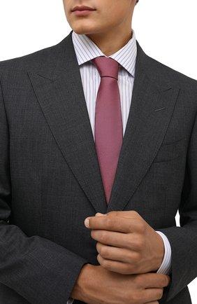 Мужской шелковый галстук DOLCE & GABBANA розового цвета, арт. GT149E/G0U46   Фото 2 (Материал: Текстиль, Шелк; Принт: Без принта)