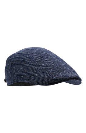Мужская кепи из шерсти и кашемира BRUNELLO CUCINELLI синего цвета, арт. MQ4239958 | Фото 1 (Материал: Шерсть)