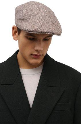 Мужская кепи из шерсти и кашемира BRUNELLO CUCINELLI бежевого цвета, арт. MQ4239958 | Фото 2 (Материал: Шерсть)
