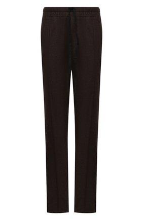 Мужские брюки из шерсти и кашемира TOM FORD коричневого цвета, арт. 228R02/732D42 | Фото 1 (Материал внешний: Шерсть; Длина (брюки, джинсы): Стандартные; Случай: Повседневный; Стили: Кэжуэл)