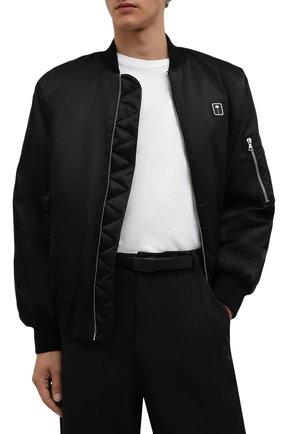 Мужской кожаный ремень YOHJI YAMAMOTO черного цвета, арт. HX-F03-770 | Фото 2 (Случай: Повседневный)