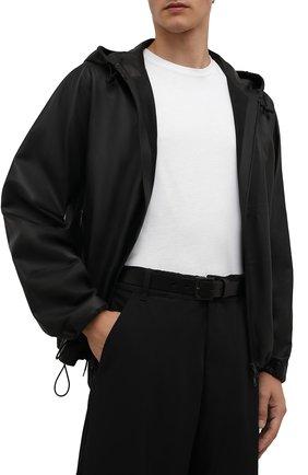 Мужской кожаный ремень YOHJI YAMAMOTO черного цвета, арт. HX-F01-769 | Фото 2 (Случай: Повседневный)