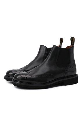 Мужские кожаные челси DOUCAL'S черного цвета, арт. DU12490TTAUF188NN00 | Фото 1 (Материал внутренний: Натуральная кожа; Подошва: Плоская; Мужское Кросс-КТ: Сапоги-обувь, Челси-обувь)