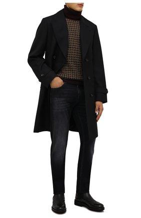 Мужской свитер из кашемира и шелка LORO PIANA темно-бежевого цвета, арт. FAL9166 | Фото 2 (Материал внешний: Шерсть, Кашемир; Длина (для топов): Стандартные; Рукава: Длинные; Мужское Кросс-КТ: Свитер-одежда; Стили: Кэжуэл; Принт: Без принта)