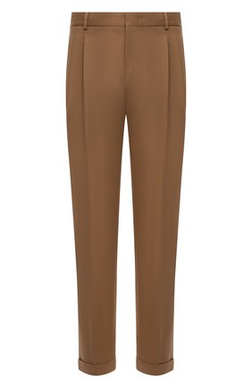 Мужские хлопковые брюки LORO PIANA светло-коричневого цвета, арт. FAL8006 | Фото 1 (Материал внешний: Хлопок; Случай: Повседневный; Длина (брюки, джинсы): Стандартные)