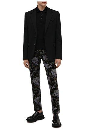 Мужские хлопковые брюки TOM FORD разноцветного цвета, арт. 2VER15/752J42 | Фото 2 (Материал внешний: Хлопок; Материал подклада: Купро; Длина (брюки, джинсы): Стандартные; Случай: Вечерний; Стили: Романтичный)