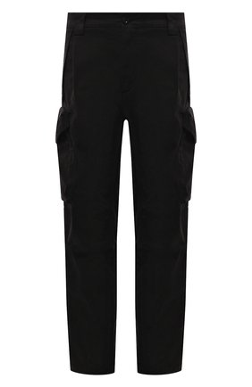 Мужские хлопковые брюки-карго C.P. COMPANY черного цвета, арт. 11CMPA230A-005529G | Фото 1 (Длина (брюки, джинсы): Стандартные; Материал внешний: Хлопок; Случай: Повседневный; Силуэт М (брюки): Карго; Стили: Гранж)