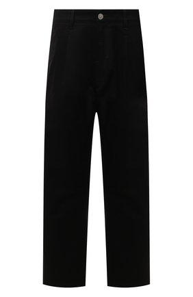 Мужские хлопковые брюки STONE ISLAND черного цвета, арт. 751930109 | Фото 1 (Материал внешний: Хлопок; Длина (брюки, джинсы): Стандартные; Случай: Повседневный; Стили: Гранж)