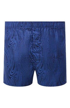 Мужские хлопковые боксеры DEREK ROSE темно-синего цвета, арт. 6050-PARI020 | Фото 1 (Материал внешний: Хлопок; Кросс-КТ: бельё; Мужское Кросс-КТ: Трусы)
