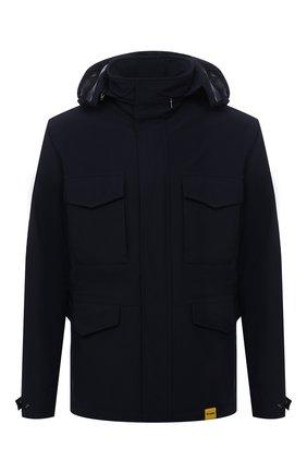 Мужская утепленная куртка ASPESI темно-синего цвета, арт. W1 I 1I22 L594 | Фото 1 (Материал внешний: Синтетический материал; Рукава: Длинные; Материал подклада: Синтетический материал; Кросс-КТ: Куртка; Мужское Кросс-КТ: утепленные куртки; Стили: Кэжуэл; Длина (верхняя одежда): До середины бедра)